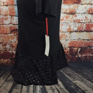 Elle NWT black shirt with lace detail